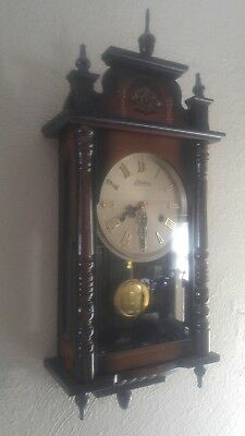 Vintage Linden 31 day wall Clock made in Japan mechanical with key #8052