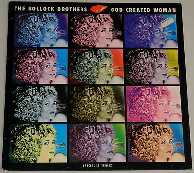 """12"""" De**the Bollock Brothers - God Created Woman (Blue Turtle Rec. '88)***11219"""