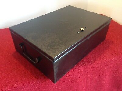 Vintage Black Metal first aid,Document Box,Storage,Display.