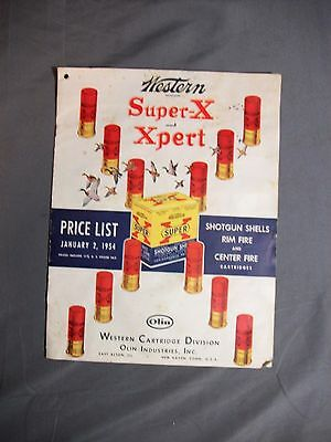 Western Super-X and Xpert Price List January 2, 1954