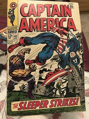 Captain America, Vol 1, No 102 Issued 1968 *open to offers*