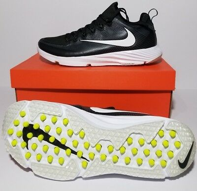 finest selection 70f14 aa22f New Nike Vapor Speed Turf Football Lacrosse Cleats Black White 833408-017  Sz 12
