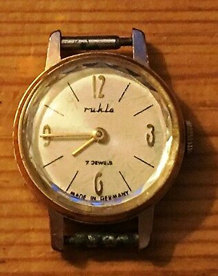 Ruhla Uhr Damen DDR, 7Jewels