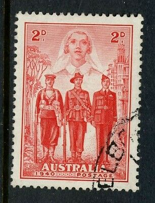 1940 Australian Imperial Forces 2d Red VFU SG 197 560