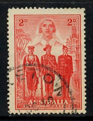 1940 Australian Imperial Forces 2d Red FU SG 197 908