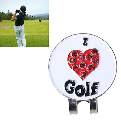 essionable Golf Magnetic Cap Clip Putting Alignment Aiming Tool Ball_marker