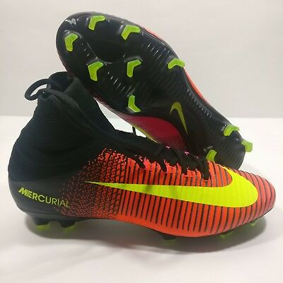 newest ac541 3d4eb MENS NIKE MERCURIAL Superfly V 5 FG Soccer Crimson Cleats Size 11.5 831940  870