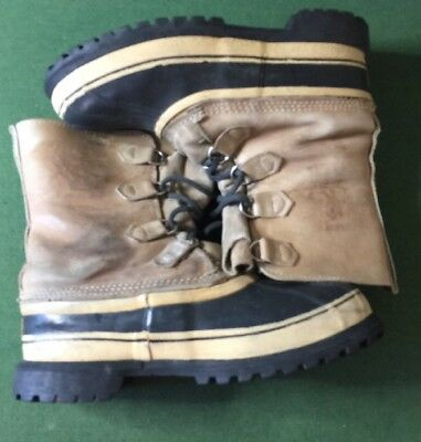 Sorel Caribou Boots Leather Size 11 Men's Made In Canada