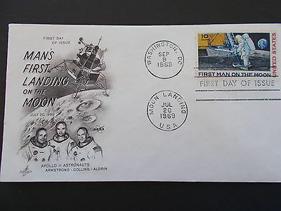 Mans First Landing On The Moon 1969 First Day Cover Usa