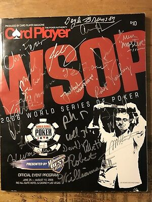 WSOP World Series Of Poker 2006 Official Event Program - Signed by TOP PLAYERS