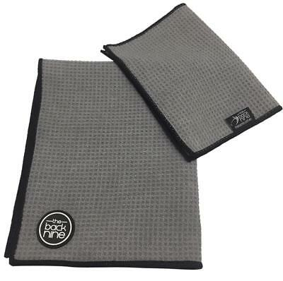 AquaPro Waffle Weave Tour Caddy Towel - with Free Bonus Matching Hand Towel