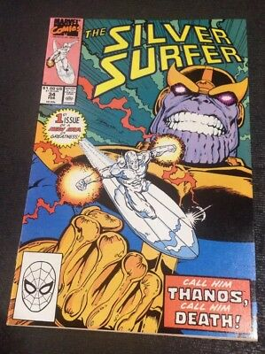Silver Surfer #34-1990 N/M + Infinity Gauntlet Prelude - Rebirth of Thanos