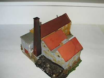 Faller Old style factory bldg. Hand made from the 60's. Collectable.Good cond.HO