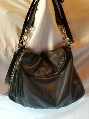 6decb0884f MARGOT SOFT BLACK Leather Zip Flap Purse Pre-Owned -  16.99