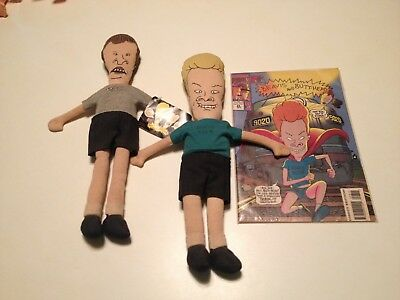 Vintage Beavis and Butthead Soft Sculpt Dolls MTV 1993 & Marvel Comic Oct 8