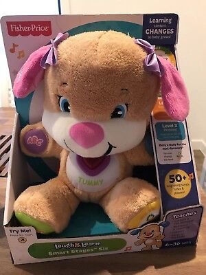 Fisher Price Laugh Learn Nighttime Puppy Toy Sounds Pre School Pink