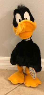 """Daffy Duck bendable plush Warner Brothers Looney Tunes 1995 Warner Brothers 16"""""""