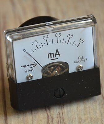 1mA Moving Coil Panel Meter MU45