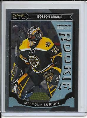 15-16 O-Pee-Chee Platinum Malcolm Subban Marquee Rookie # M5