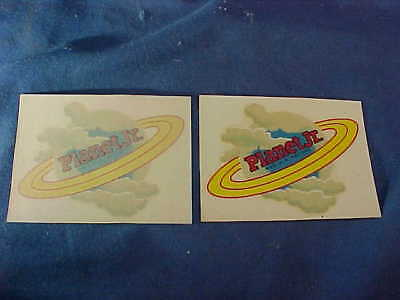 2-Unused 1930s PLANET JR Cultivator LOGO DECALS