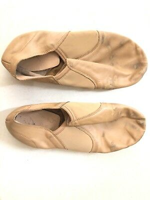 Used Beige Split Soled Jazz Shoes.
