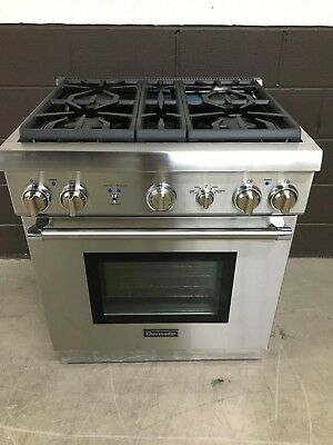 Thermador 30 Prg304gh Gas Range Oven 4 Burner Stainless Steel Pro Style