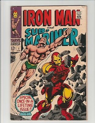 Iron Man & Sub-Mariner #1 (Marvel 1968) Predates 1st Issue of Each Series FN/VF