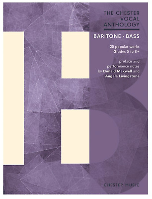 The Chester Vocal Anthology Baritone Bass Voice Sheet Music Book Classical Bizet