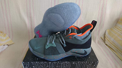 298280a0eb67 Nike PG 2 Palmdale Clay Green Black Paul George Basketball AO1750 300 Size  10.5