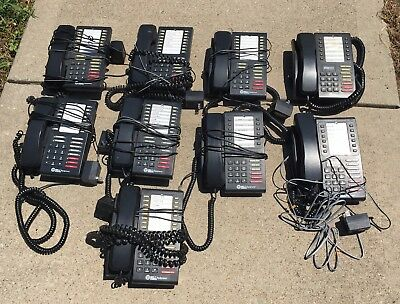 Set Of 9 Office Telephones With Hold, Speaker, And Intercom