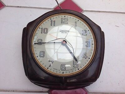 "Vintage Smiths Sectric Bakelite 8"" (20 cm) Wall Clock Rare"
