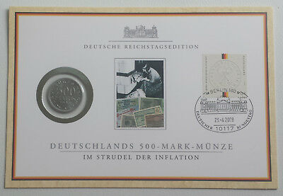 Numisbrief Reichstagsedition, 500 Mark, Weimarer Republik 1923
