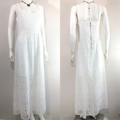 Betsey Johnson Rare Crochet Lace White Festival Boho