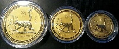 Gold 1/2 oz Perth Mint Series 1 Lunar Monkey - Less than 4300 Minted