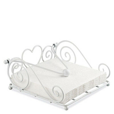 Ambiente Rustical Napkin Holder, White Dispenser Tray Modern Stylish Home Decor