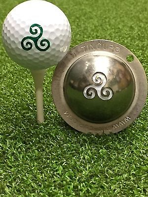 1 only TIN CUP GOLF BALL MARKER - TRANQUILITY - PEACE & YOURS FOR LIFE