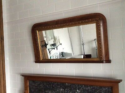 Small Antique Over Mantle mirror
