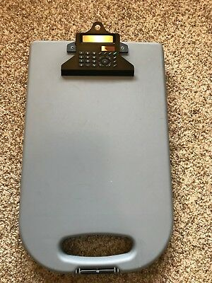 Clip Board with Calculator and Storage - Excellent Condition