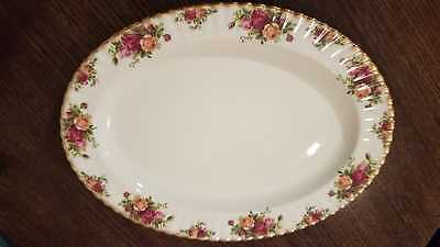 Old Country Roses | Royal Albert Bone China, ENGLAND |Oval Serving Platter 42cm
