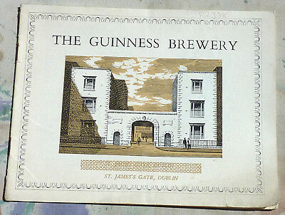 Guinness Dublin Brewery 15 page Guide book of 1955, many illustrations Fine Rare