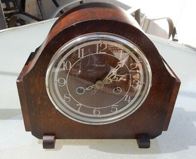 Free postage Beautiful  Art Deco 'Smiths Enfield' Mantel Clock with Chimes