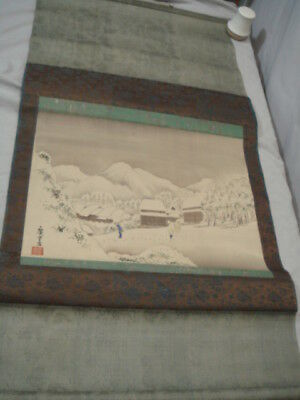 Ando Hiroshige Japanese Woodblock Print Kambara Scroll Painting Reproduction