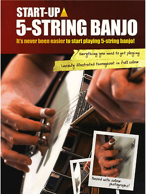 Learn How To Play 5 STRING BANJO Easy Teach Yourself Method Tutor Music Book TAB
