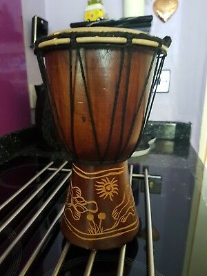 Lovely African Hand Held Or Ornamental Drum