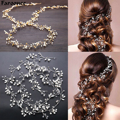 Wedding Headdress Simulated Pearl Hair Accessories for Bride
