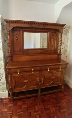 Immaculate Victorian Maple & Co Mirrored Sideboard / Dresser
