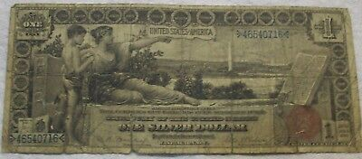 1896 $1 SILVER CERTIFICATE fr#225 Bruce / Roberts Educational Note! Circulated