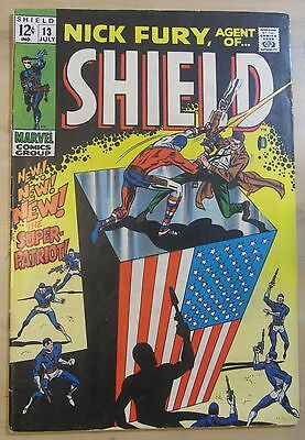 Nick Fury, Agent of SHIELD #13 (Jul 1969, Marvel) FN+ 6.5...FREE SHIPPING!!!