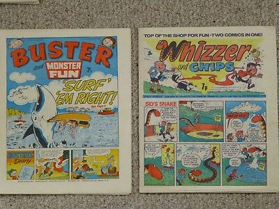 Buster + Whizzer and Chips Comics – Both dated 13 November 1976 – Both Near Mint