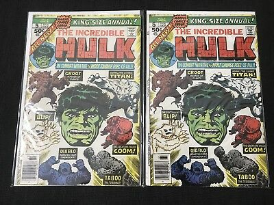 Incredible Hulk King Size Annual 5 Second Appearance Groot Marvel Comic x2